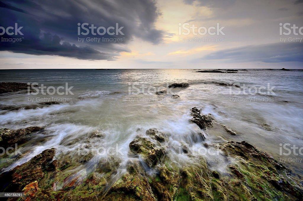 sea sunset background royalty-free stock photo