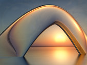 Sea Sunset Crystal Arch