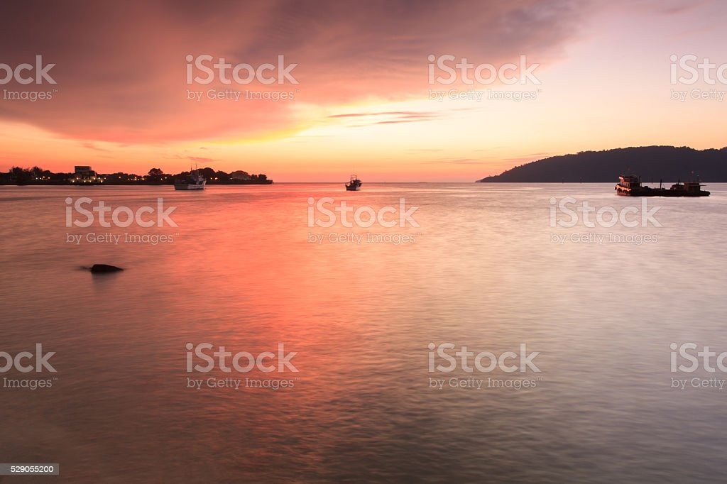 Sea Sunset Landscape stock photo