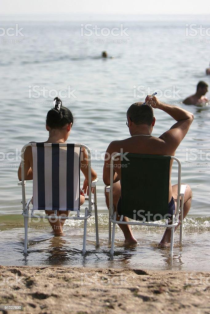 Sea think royalty-free stock photo