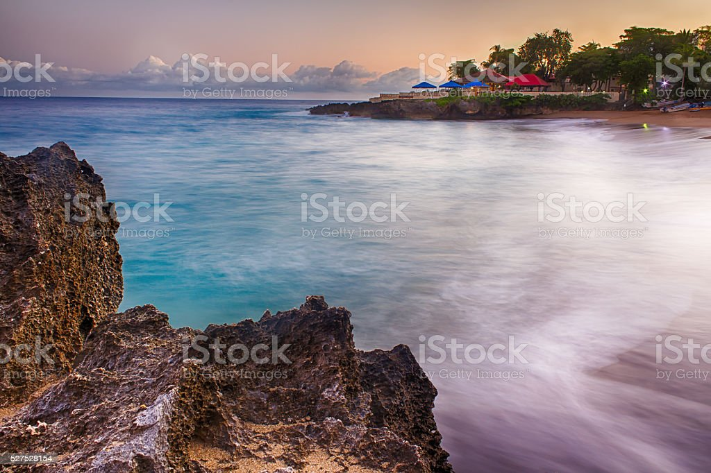 Sea to Sand in the Caribbean stock photo