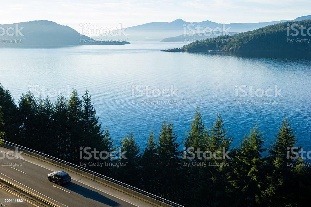 Sea to Sky Highway or Highway 99 stock photo