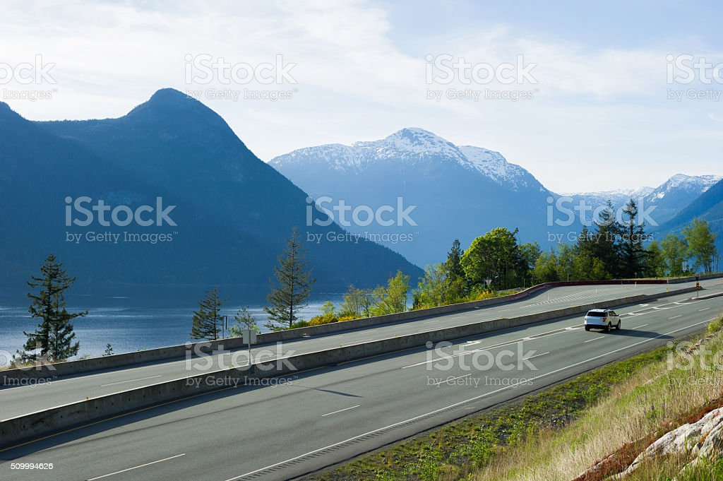 Sea to Sky Highway or Highway 99 stock photo