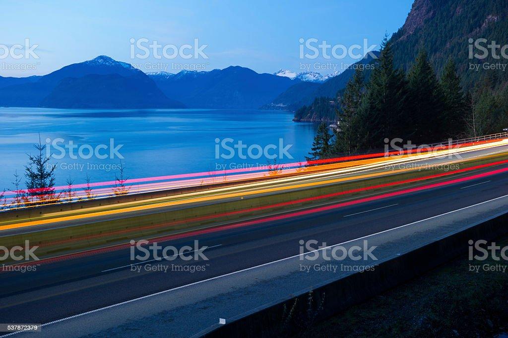 Sea to Sky Highway stock photo