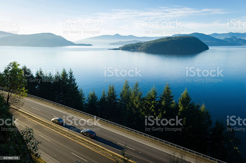 Sea to Sky Highway stock photo