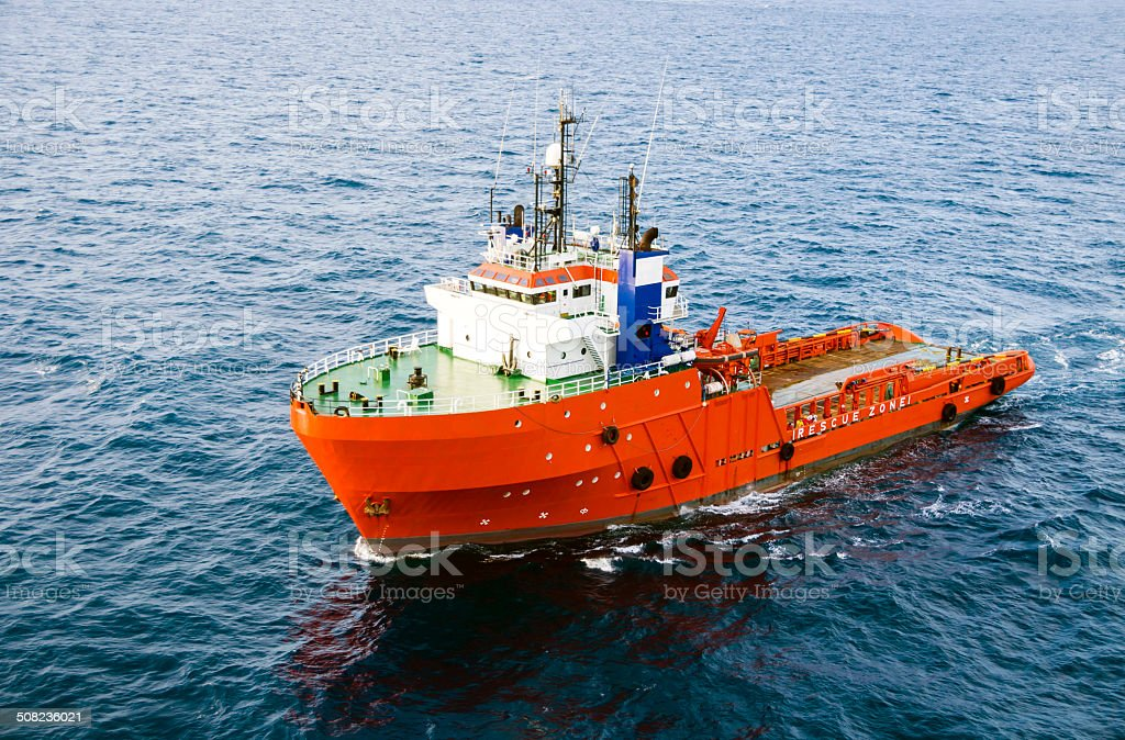 Sea tow of supply stock photo