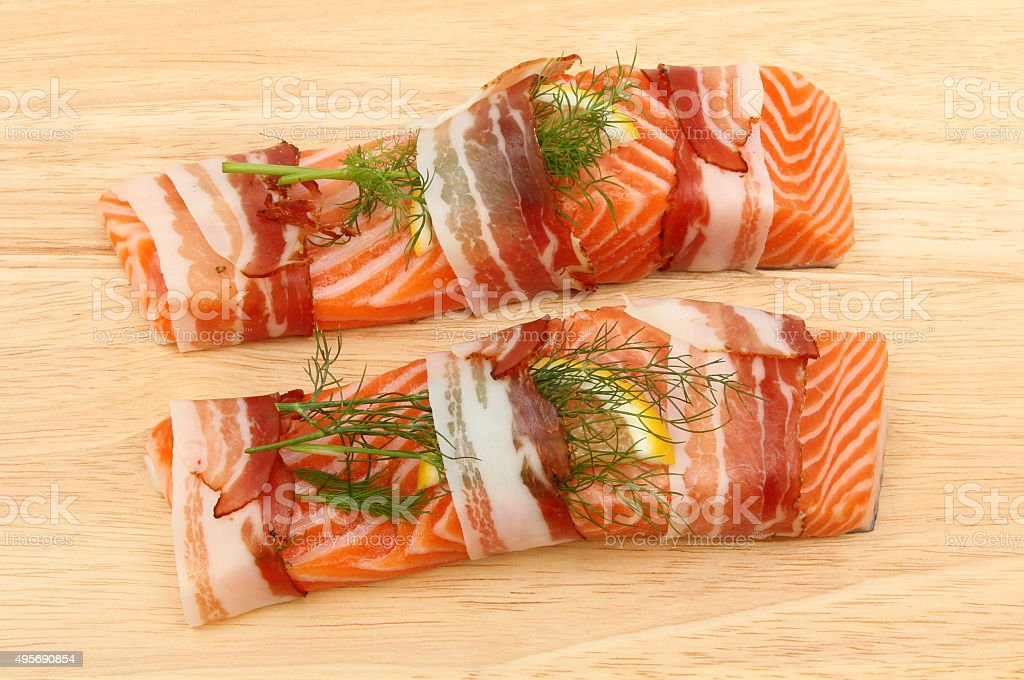 Sea trout fillets stock photo