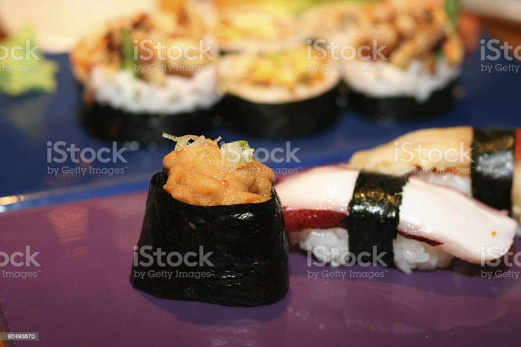 Sea Urchin Roll royalty-free stock photo
