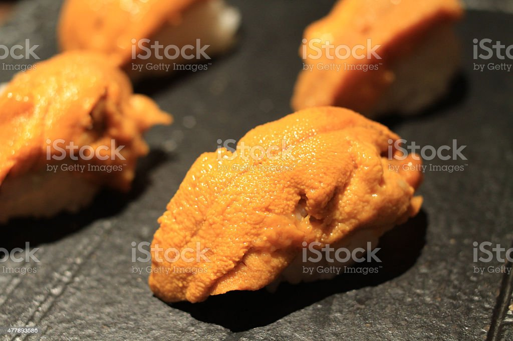 sea Urchin sushi stock photo