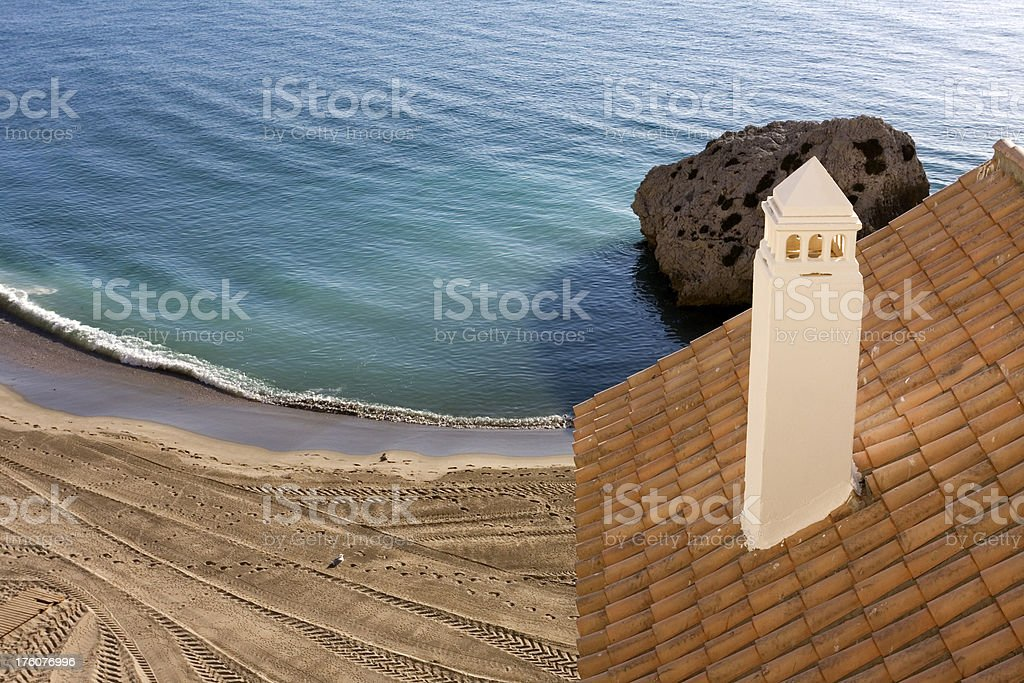 Sea view from a balcony royalty-free stock photo