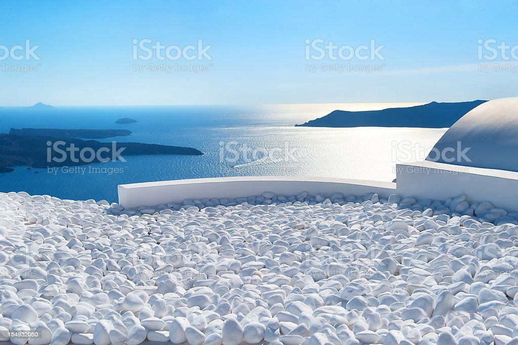 Sea view from hotel royalty-free stock photo