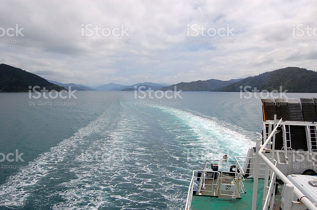 Sea view from ship stock photo