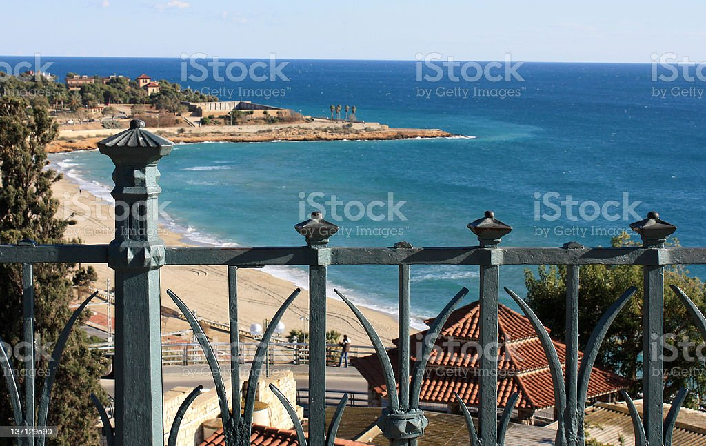 Sea view from the balconi. stock photo