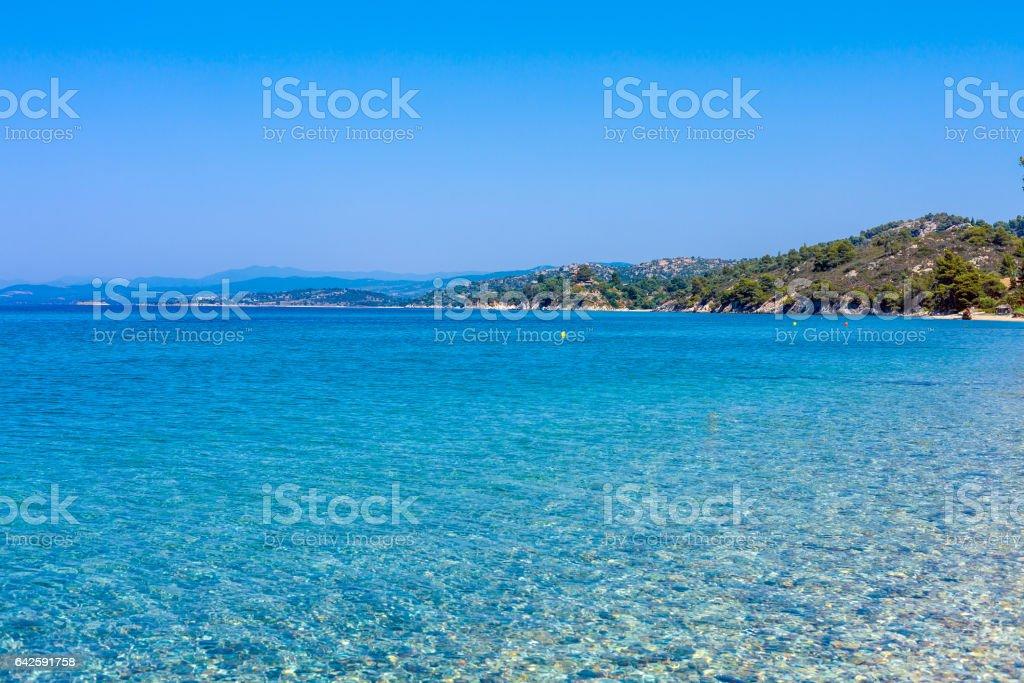 Sea view in Sithonia, Chalkidiki stock photo