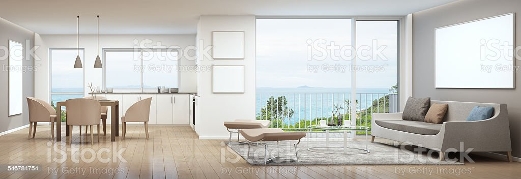 Sea view interior stock photo