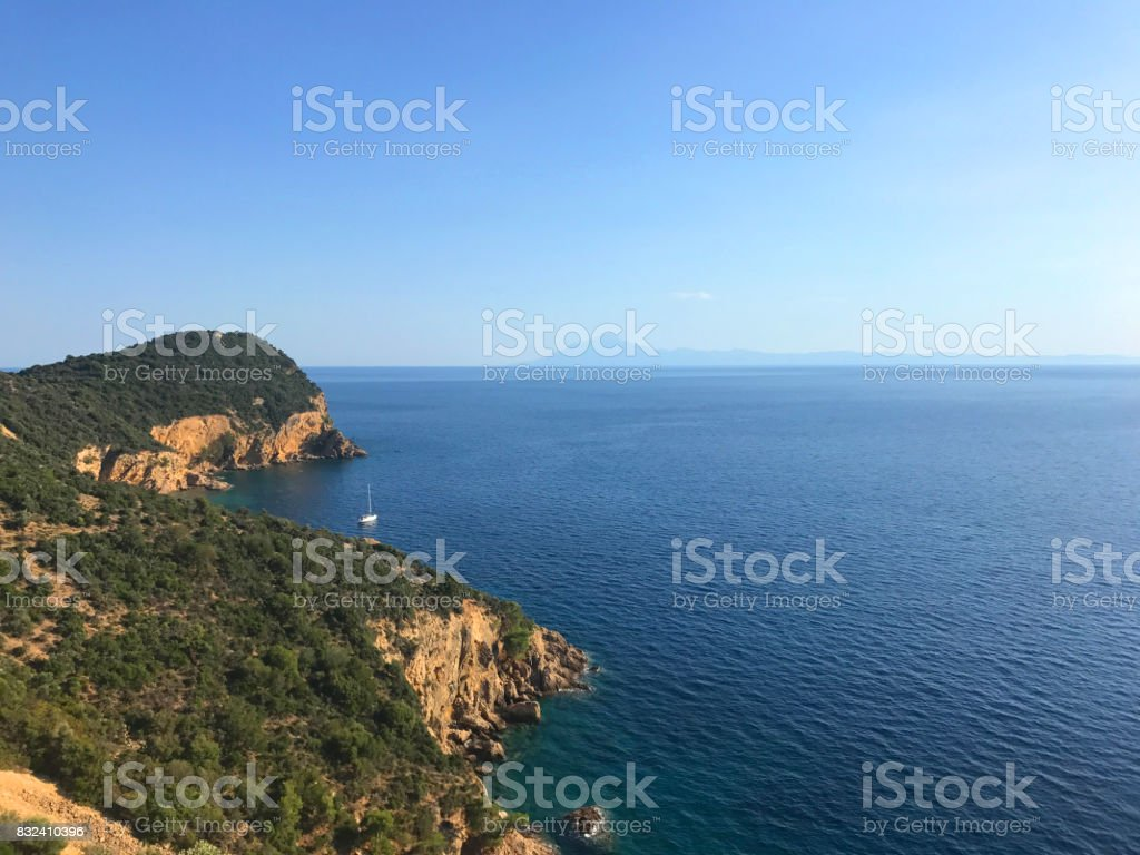 Sea view stock photo
