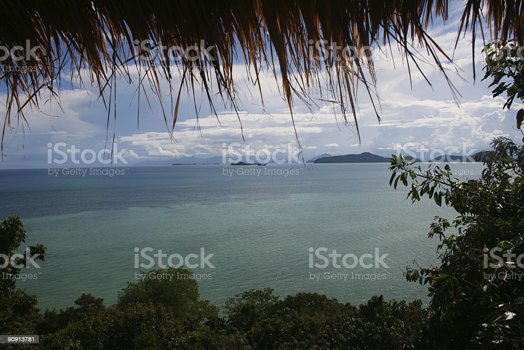 Sea View with Frame stock photo