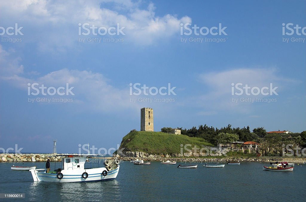 Sea village royalty-free stock photo