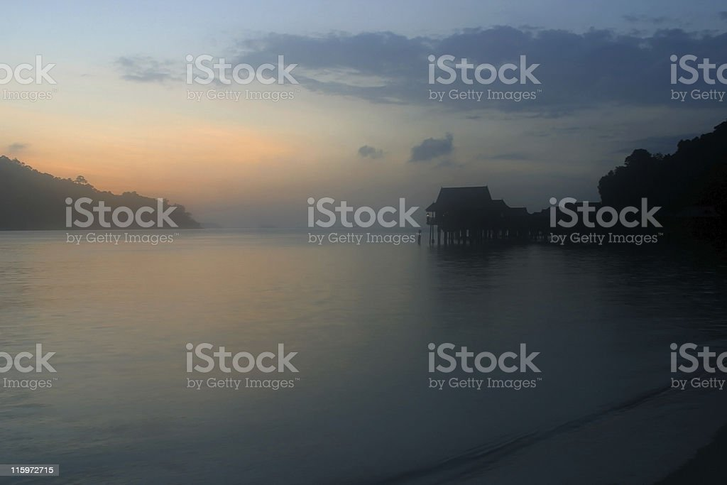 Sea Villas, Malaysia royalty-free stock photo