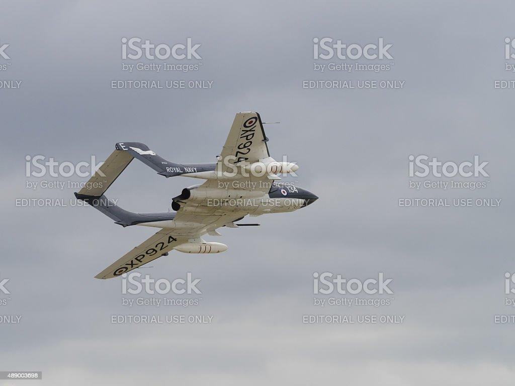 Sea Vixen vintage aircraft stock photo