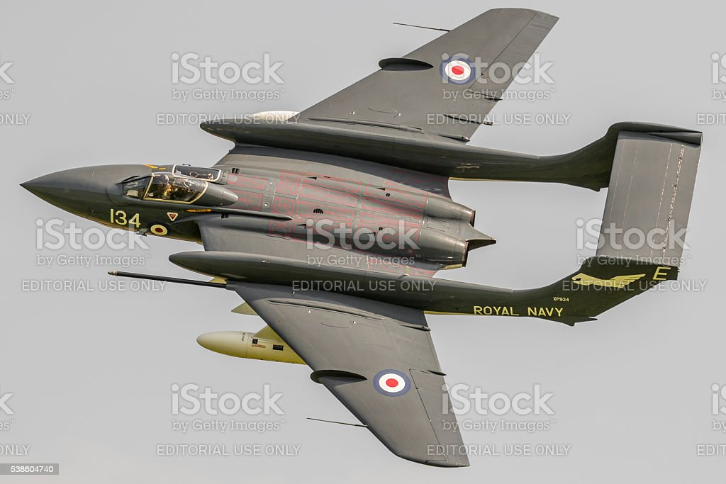 Sea Vixen XP924 - vintage jet fighter stock photo