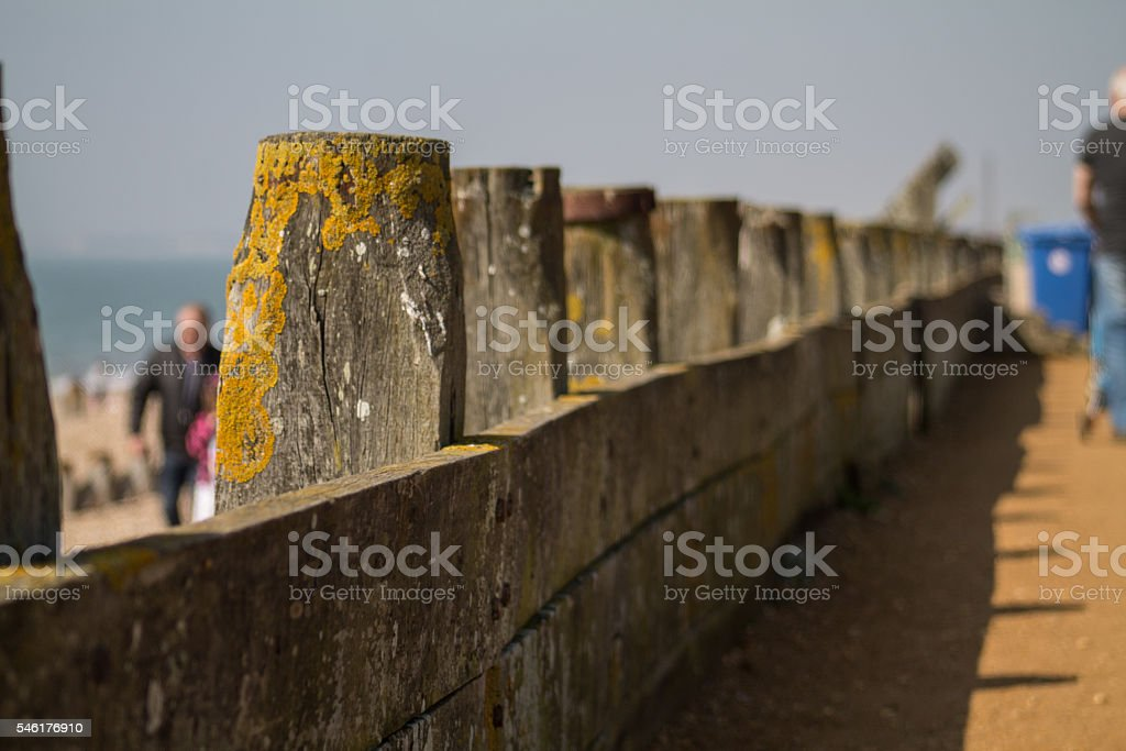 Sea Wall Fencing stock photo