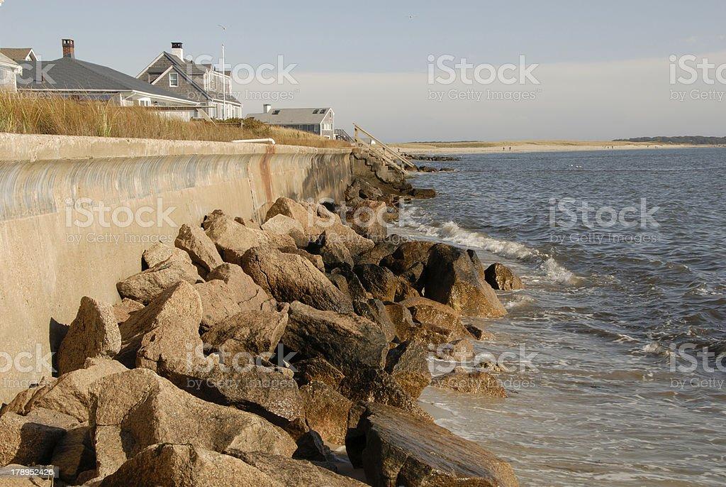 Sea Wall royalty-free stock photo
