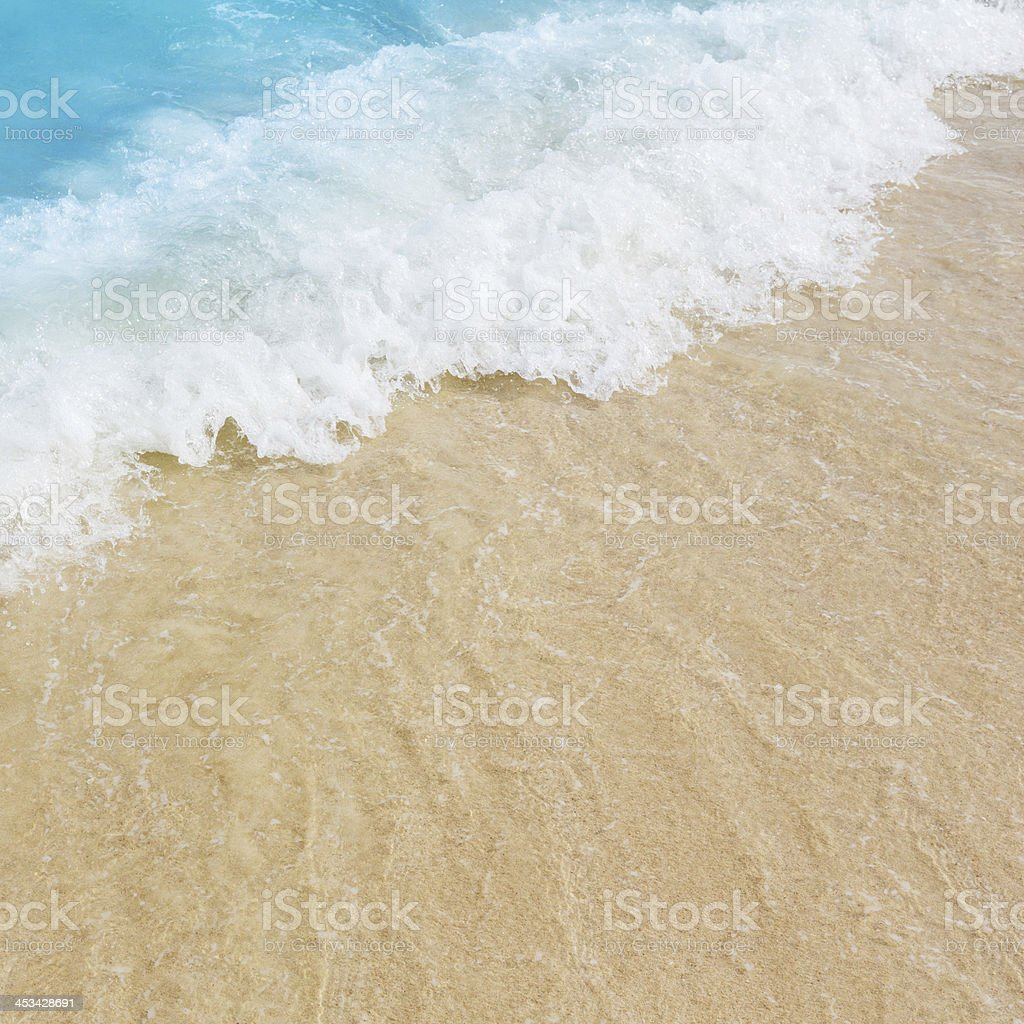 Sea water and the beach stock photo