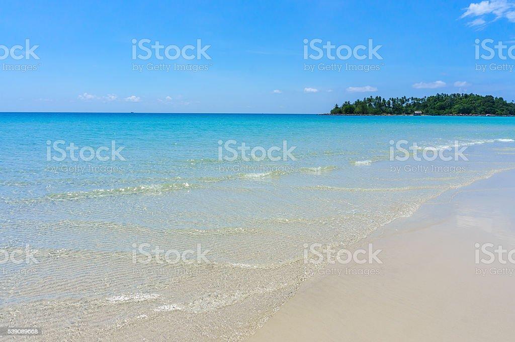 Sea water of Koh Kood, Thailand sea stock photo