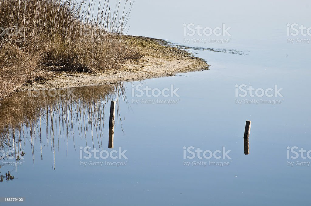 Sea water reflection stock photo