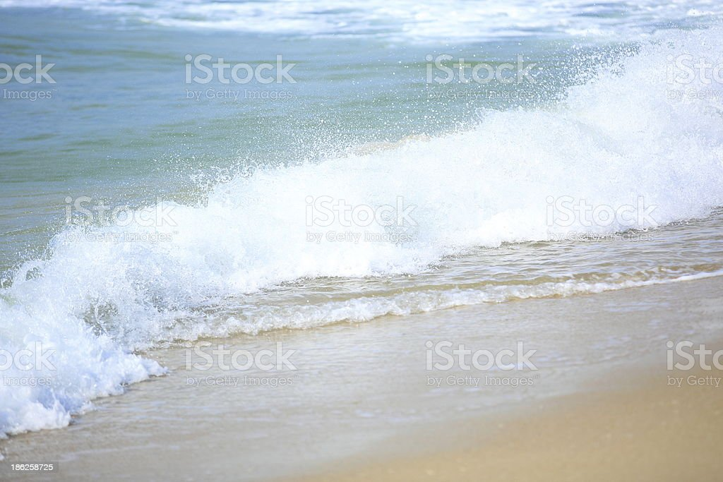 sea wave on beach royalty-free stock photo
