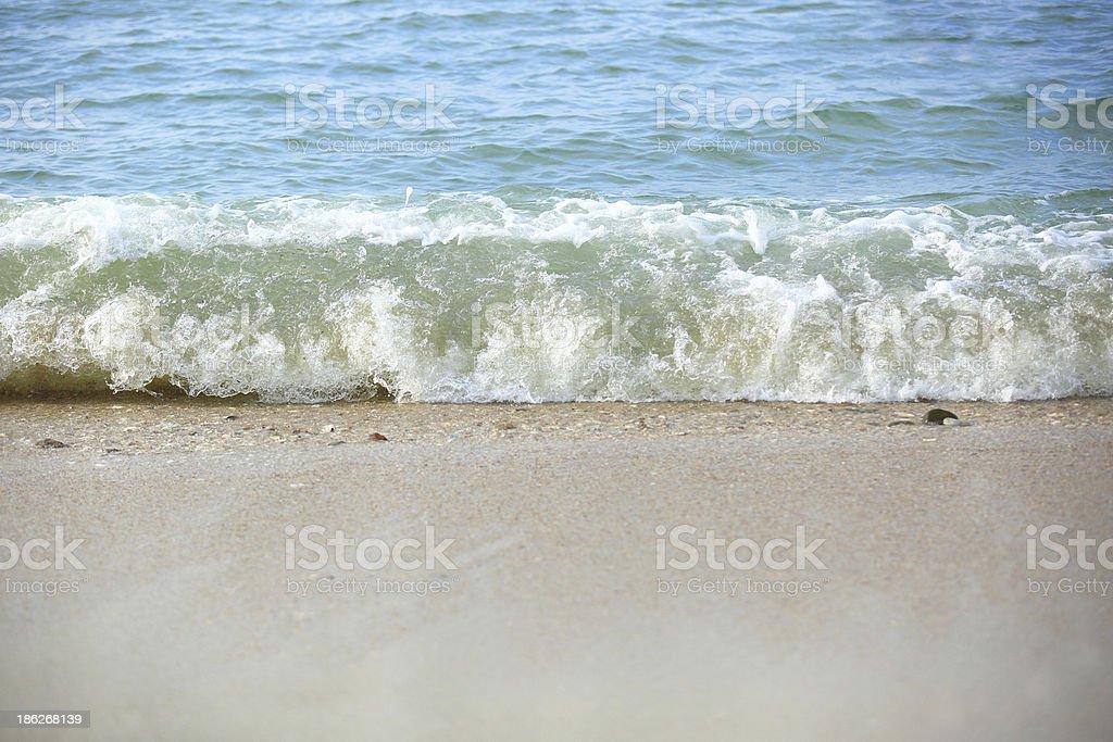 sea wave on beach stock photo