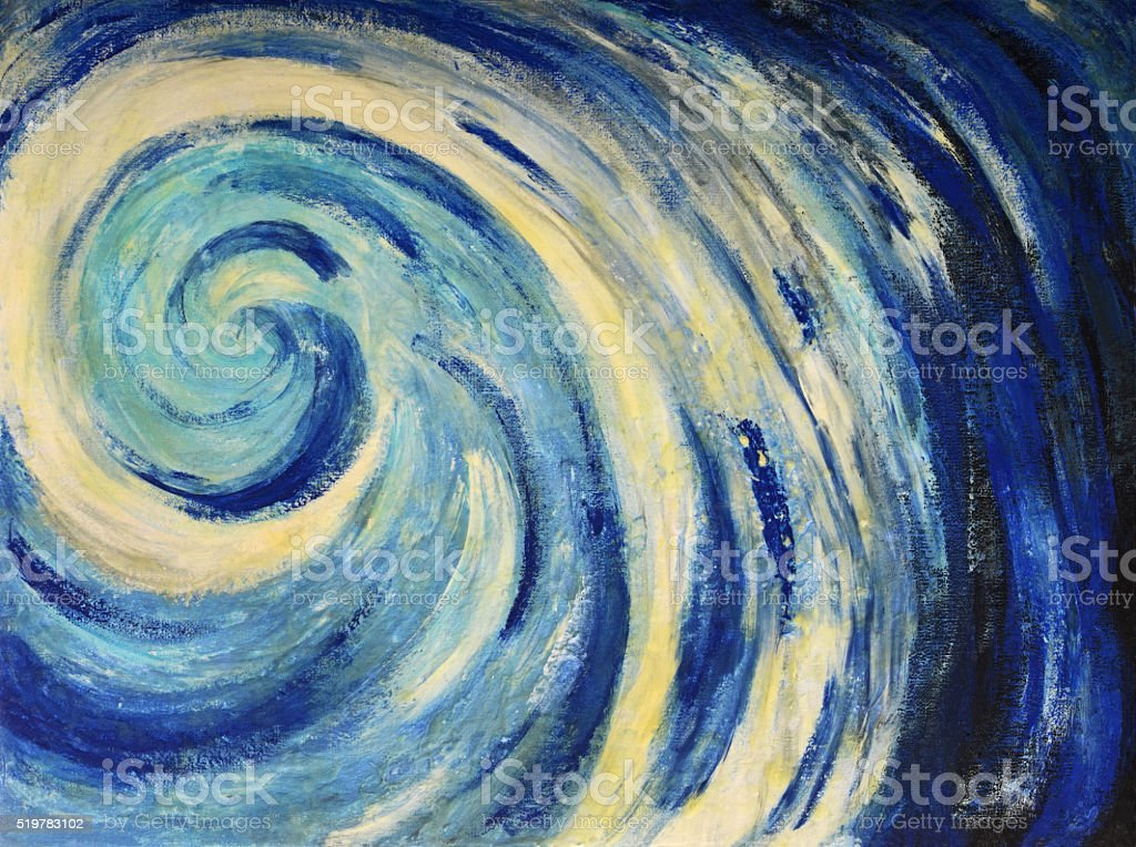 Sea wave painting stock photo