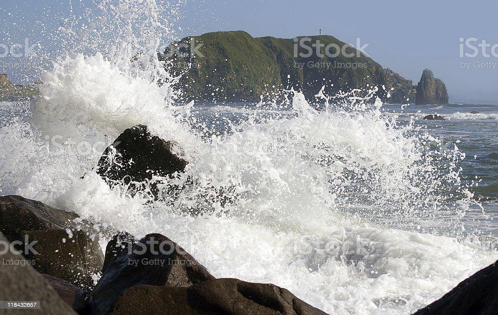 Sea wave royalty-free stock photo