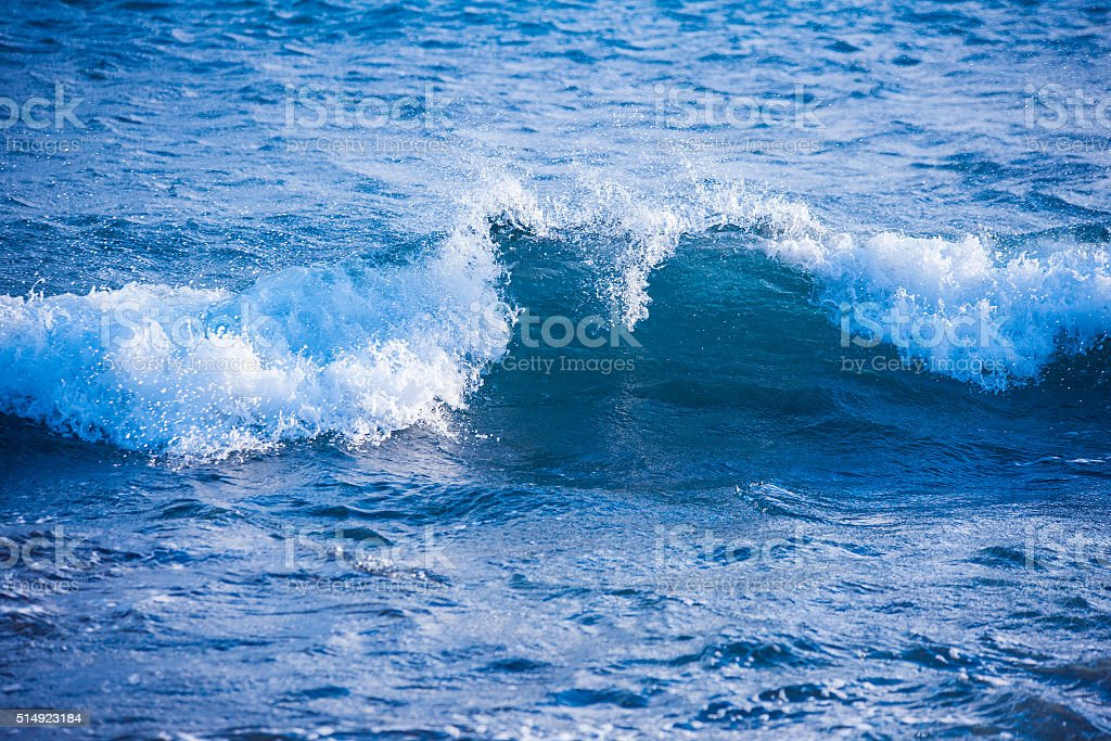 sea wave (landscape, Spain) stock photo