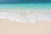 Sea waves and beach sand background
