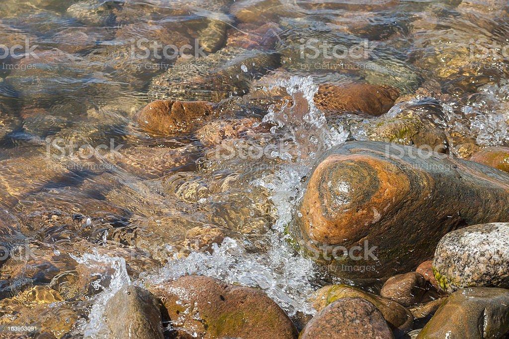 Sea waves at the beach royalty-free stock photo