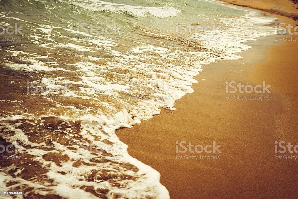 Sea, waves, beach stock photo