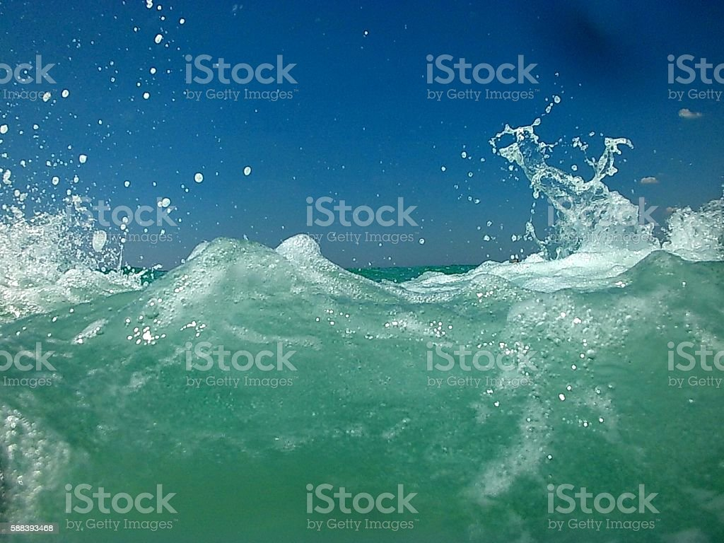 Flutti di mare stock photo