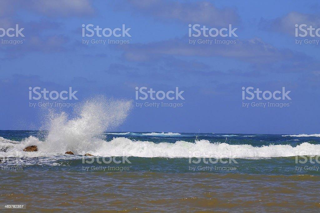 Mar, olas, salpicaduras foto de stock libre de derechos