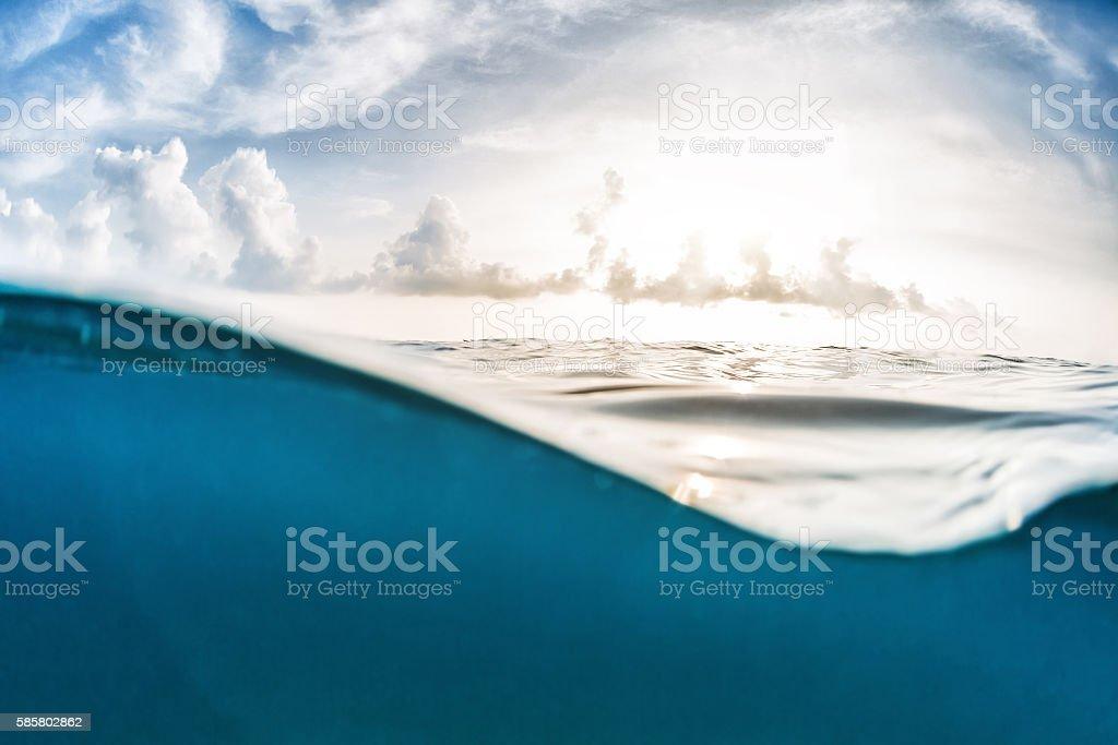 Sea with sky stock photo