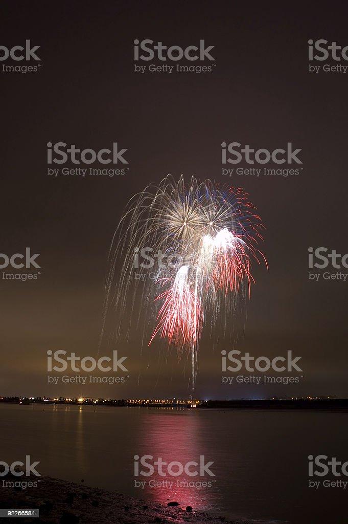 Sea World Fireworks 2 stock photo
