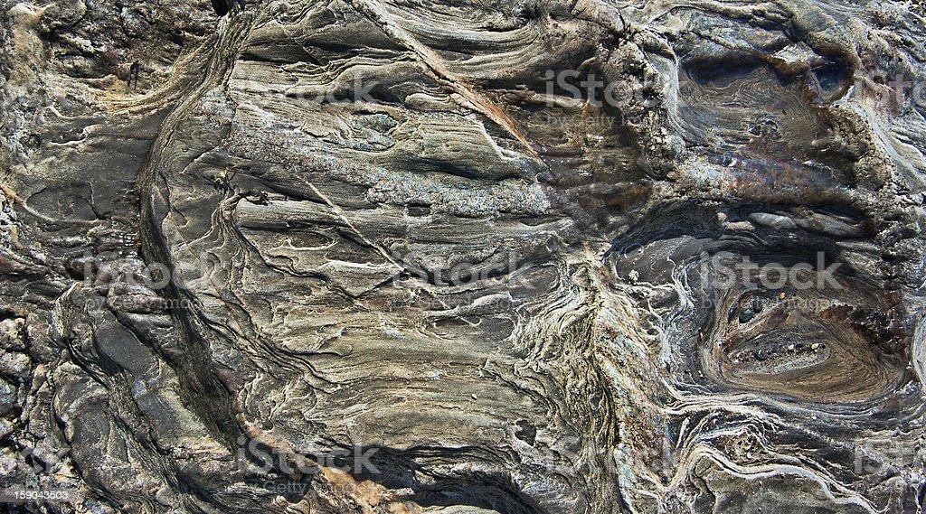 Sea Worn Rock stock photo