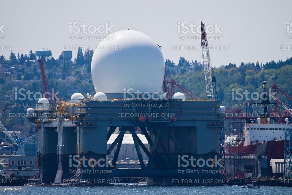 Sea-Based X-band Radar Vessel stock photo