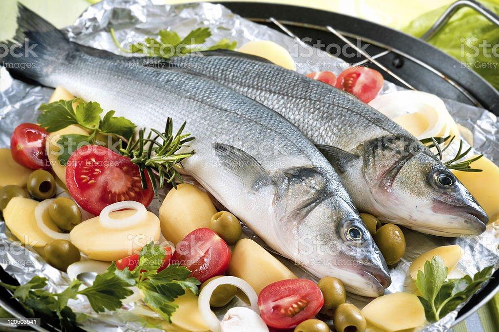 Sea-bass royalty-free stock photo
