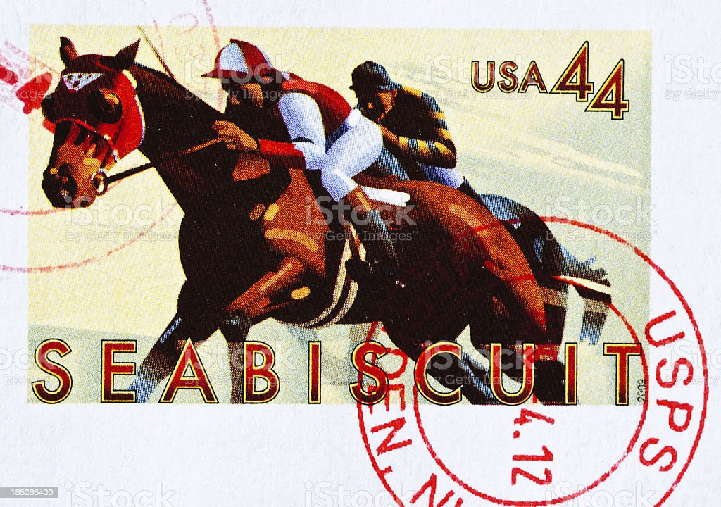 Seabiscuit Stamp stock photo
