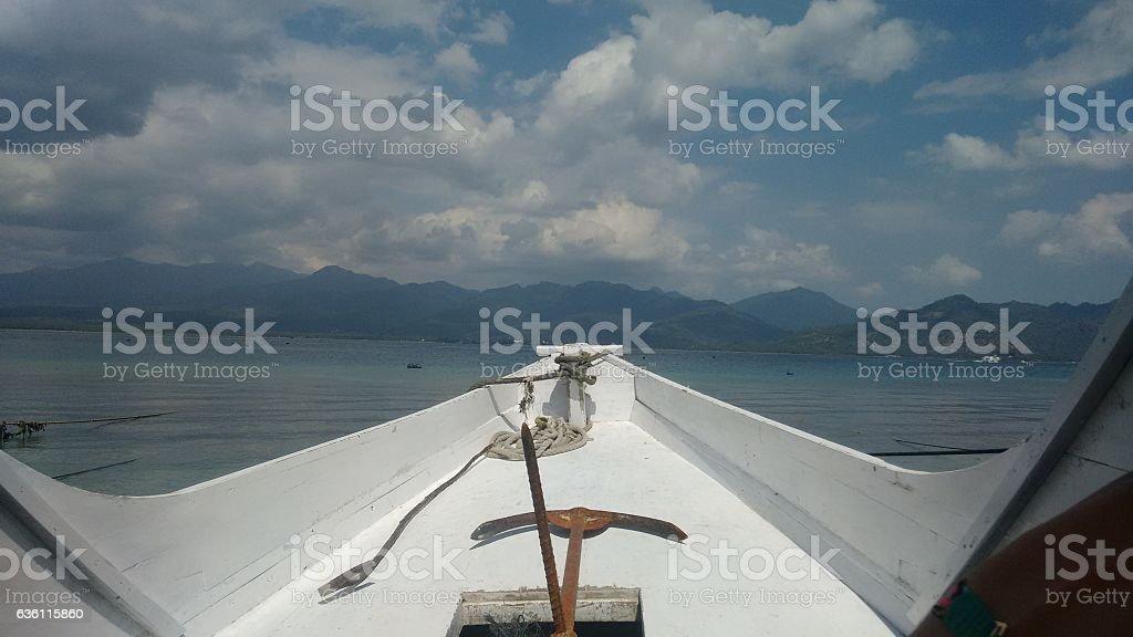 Seaboat stock photo