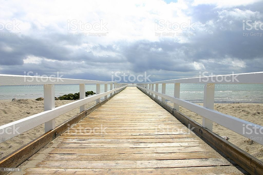 Seabridge at baltic sea royalty-free stock photo
