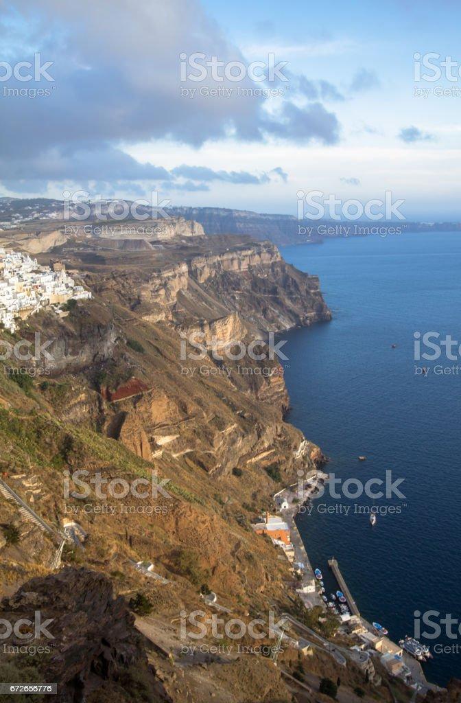 Seacoast of Santorini, Greece stock photo