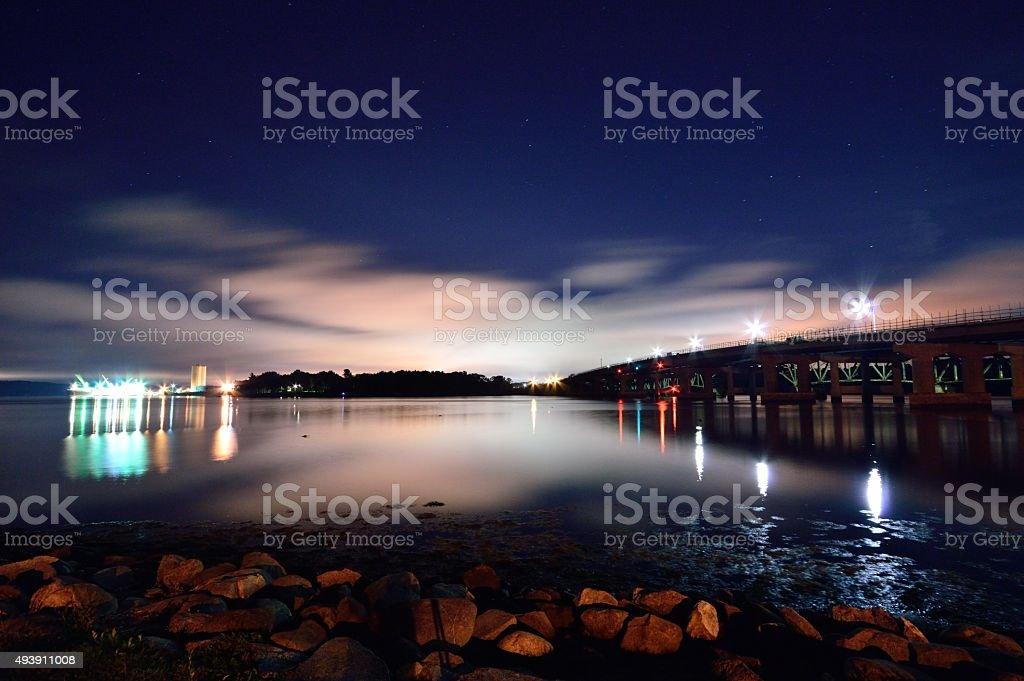 Seacoast Port Piscataqua River Maine and New Hampshire stock photo